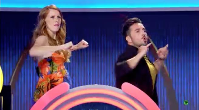 María Castro y David Bustamante en 'El juego de los anillos'